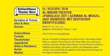 """תרבות - עוד בבמה nrg - ...""""הזמן המקביל"""" בשוויץ: """"הצגה על"""
