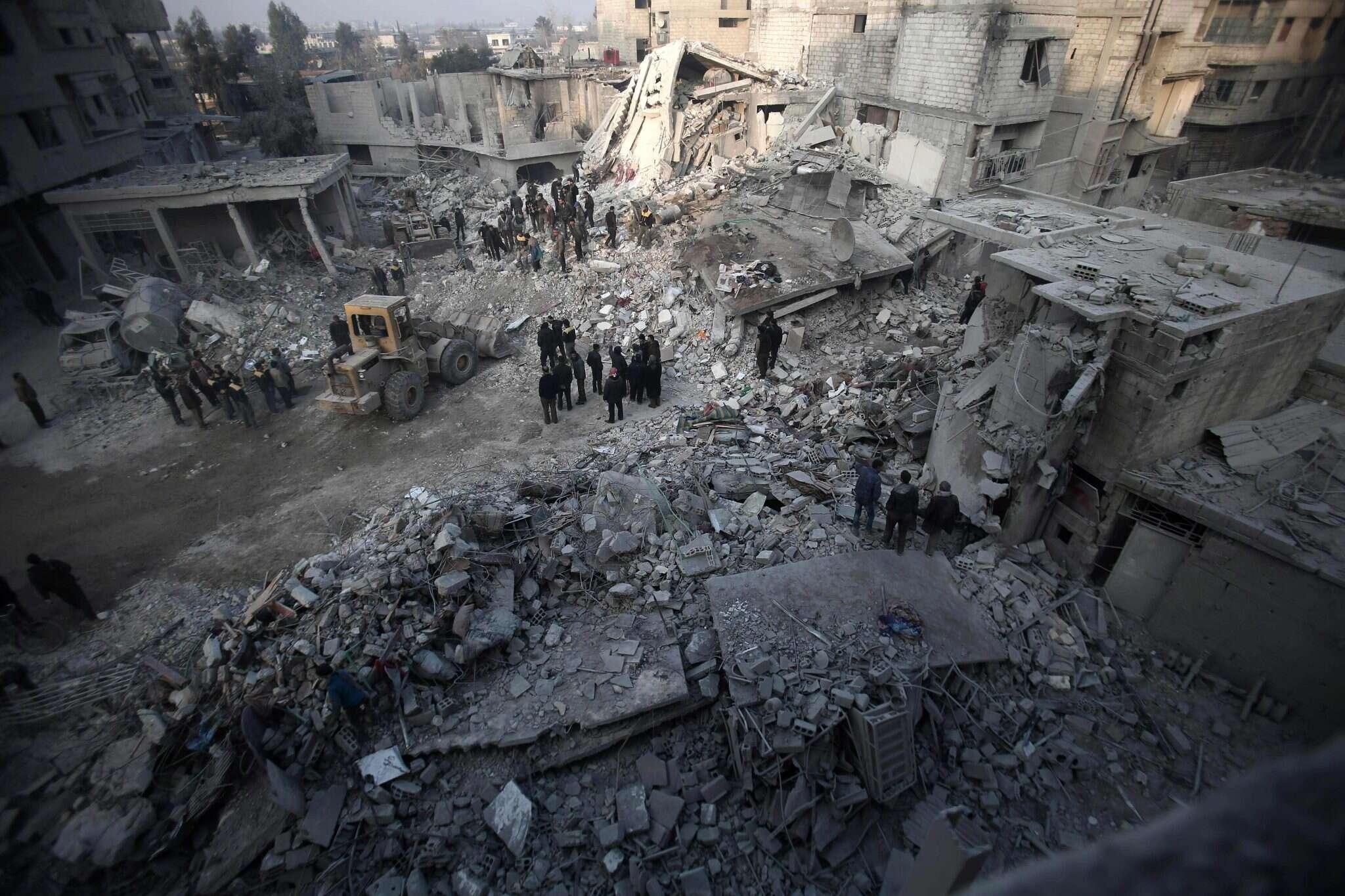 הרס בסוריה. צילום: AFP