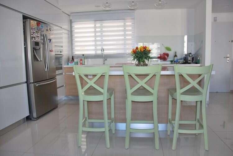 טוב מאוד טיב העץ תייבא כסאות בר למטבח בסגנון כפרי - מקור ראשון ZT-46